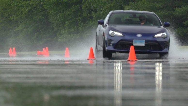 Wet Tire Testing At Cr's Track   Consumer Reports 1
