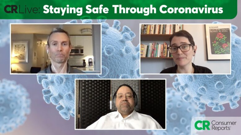 CR Live: Staying Safe Through Coronavirus | Consumer Reports 1
