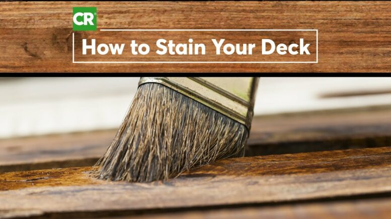 How to Stain a Wood Deck | Consumer Reports 1