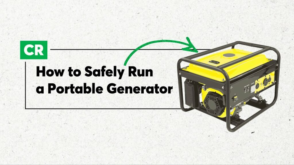 How to Run Your Portable Generator Safely   Consumer Reports 1